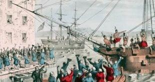 Boston Çay Partisi Olayı Sahnesi