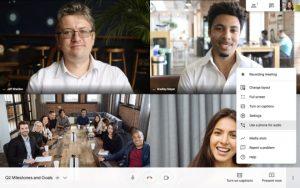 google Meet online toplantı programı